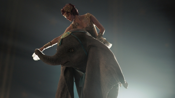 Dumbo gives a ride to Colette Marchant played by Eva Green