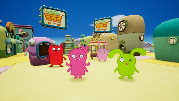UglyDolls trade buttons in UglyDolls An Imperfect Adventure video game
