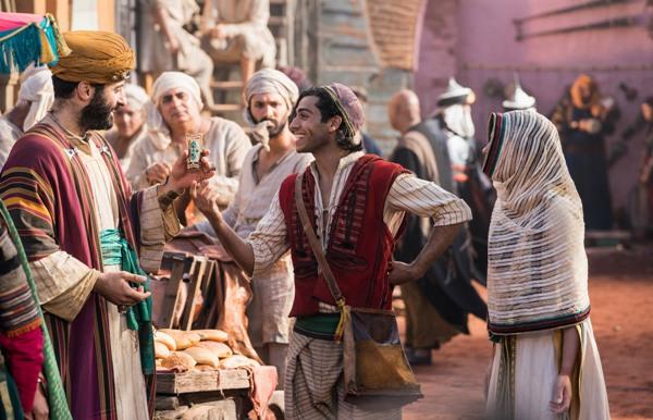 Street rat Aladdin rescues undercover Princess Jasmine