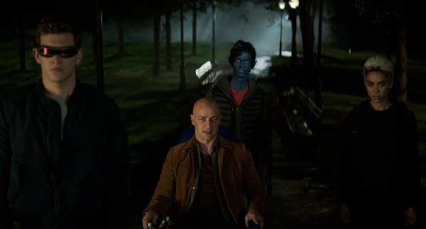 Dark Phoenix movie with Cyclops Professor X Nightcrawler and Storm