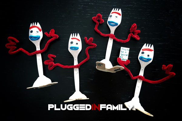 Family of Forky creations from Toy Story 4