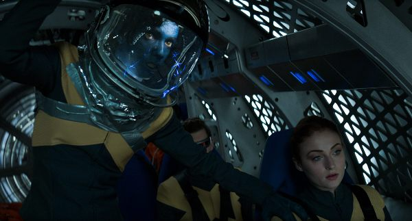 Nightcrawler Jean Grey in ship in Dark Phoenix
