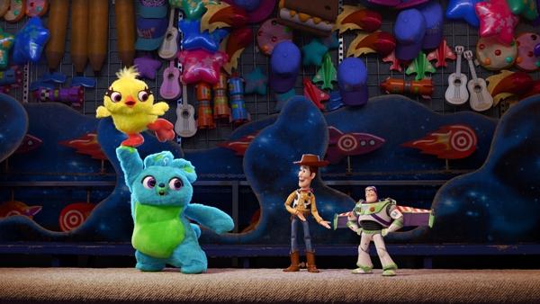 Woody Buzz Lightyear Ducky Bunny in Toy Story 4
