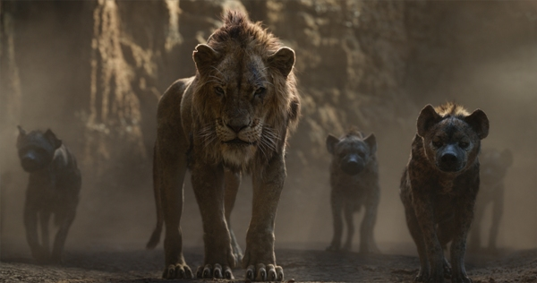 Scar with warthogs in The Lion King