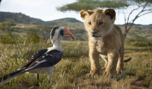 Simba and Zazu in The Lion King