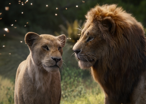 The Lion King photo real movie with Simba and Nala